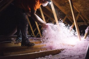 Blown-in insulation