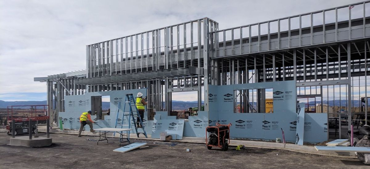 Kinzler was hired to install Rigid Board Insulation & fireproofing on this commercial project in Castle Rock, CO.